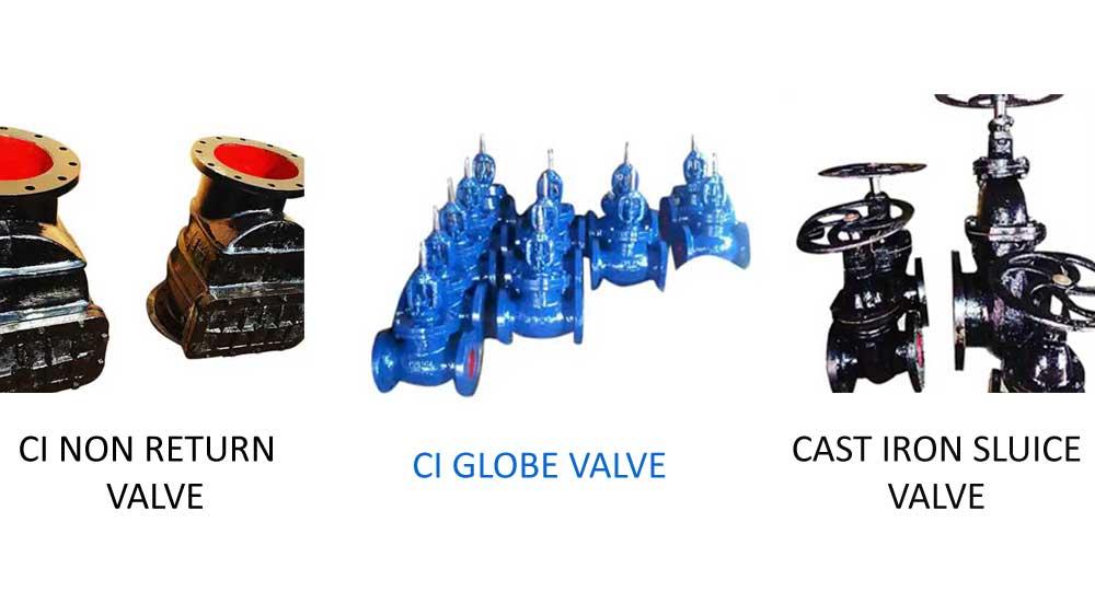 Cast Iron Sluice CI Globe Non Return Valve